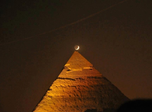 Moon over Great Pyramid