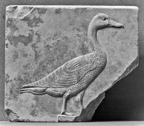 Egyptian_-_Sculptor's_Model_with_a_Relief_of_a_Goose_-_Walters_22268