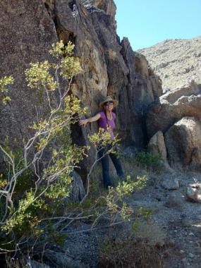 Priestess San-Aset and Giant Rock Sanctuary