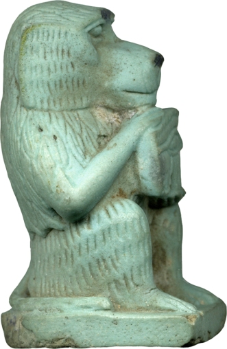 Egyptian_-_Thoth-Baboon_-_Walters_481543_-_Right