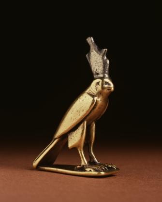 Egyptian_-_Falcon_Shaped_Horus_-_Walters_571433_-_Three_Quarter